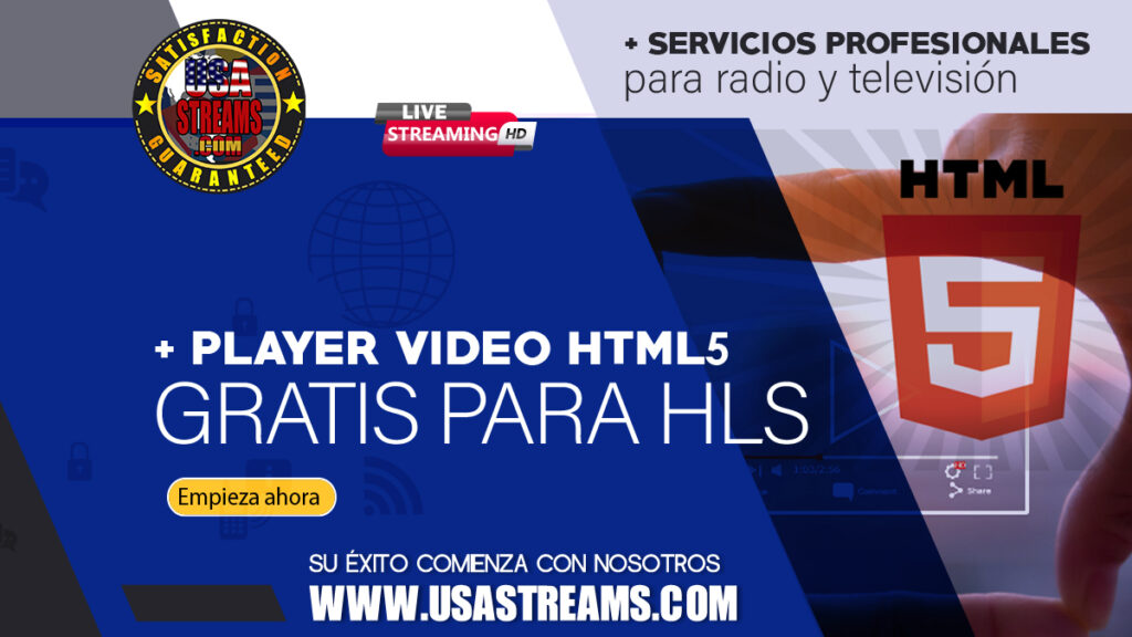 player viedeo html5 gratis para HLS