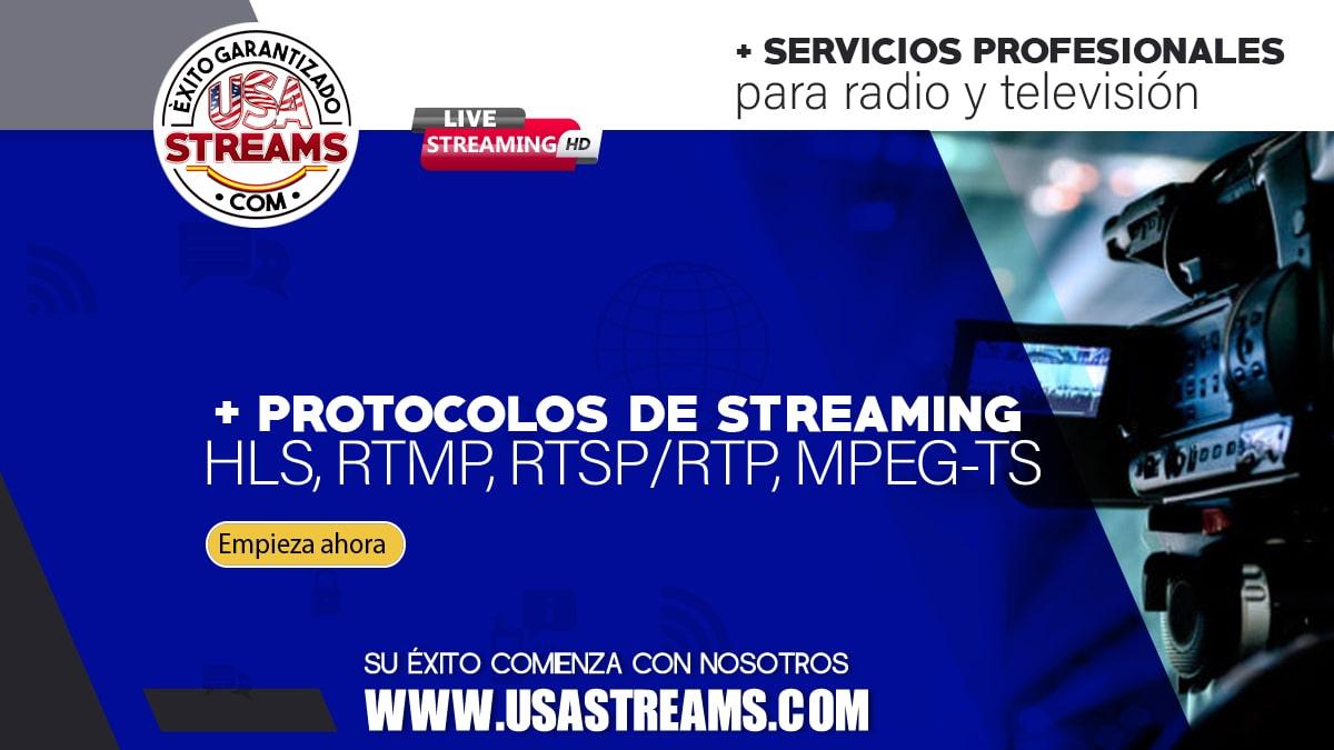 Protocolos de streaming. HLS, RTMP, RTSP/RTP, MPEG-TS
