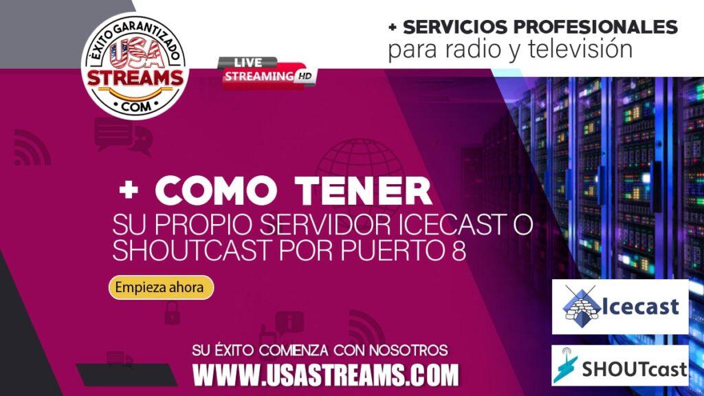 como tener tu propio servidor icecast o shoutcast por puerto 80