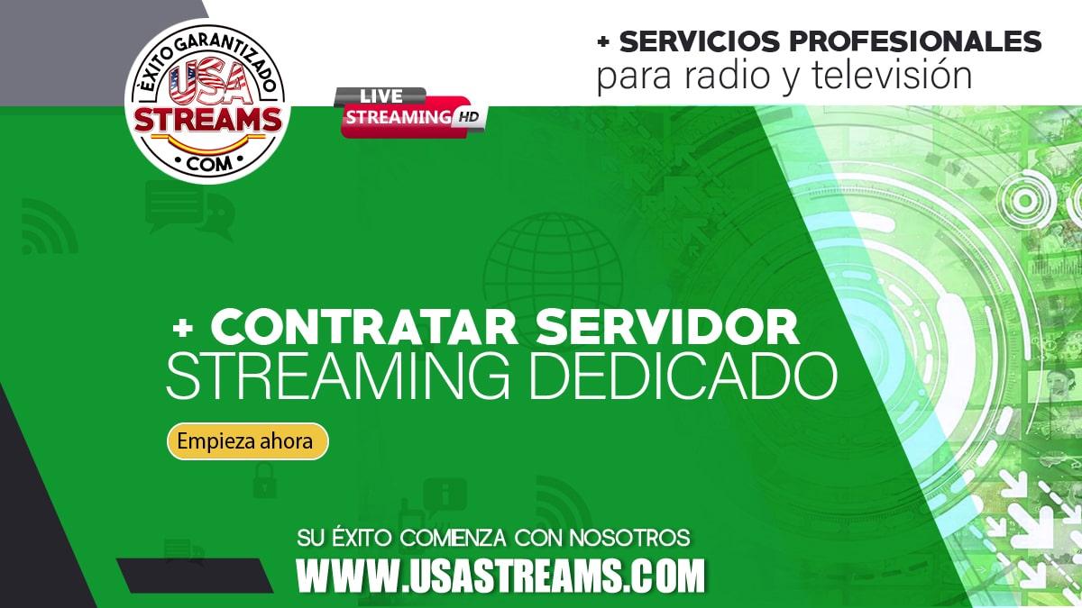 Contratar servidor streaming dedicado