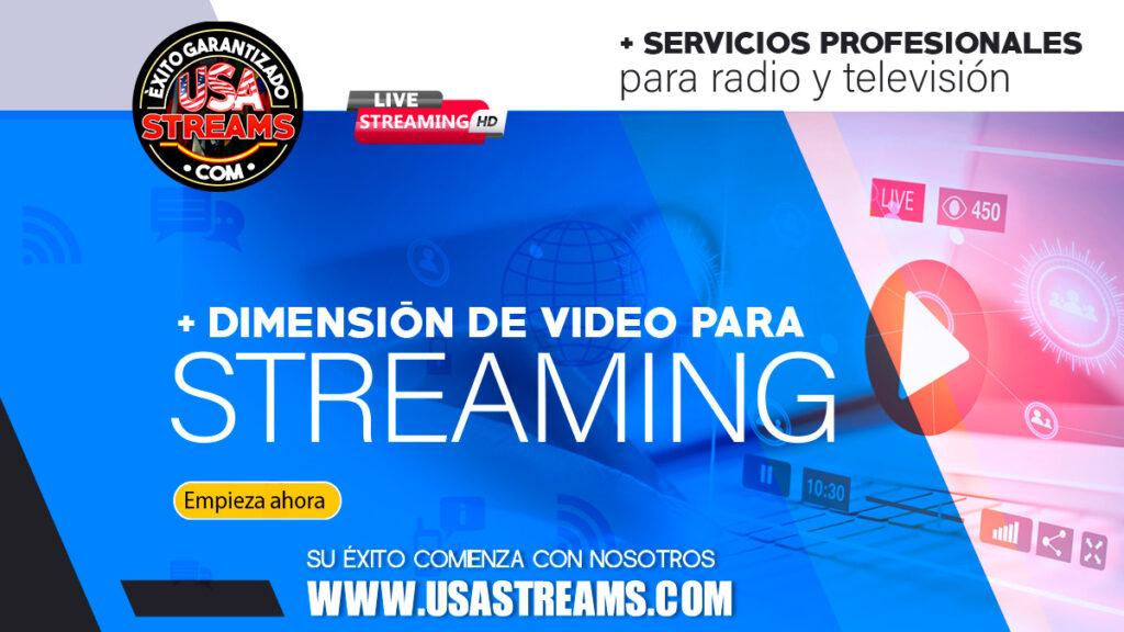dimension de video para streaming