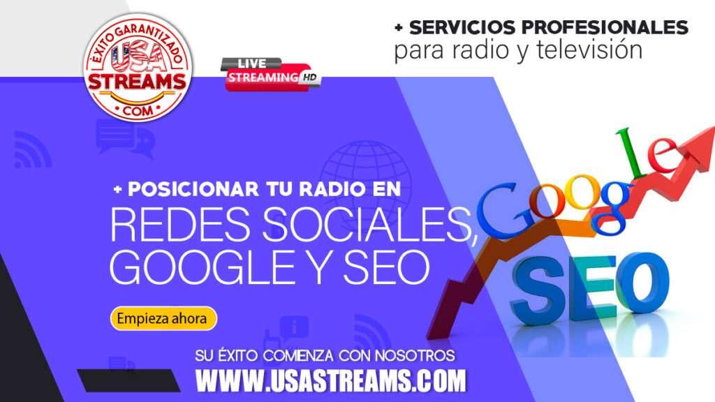 posicionar tu radio en redes sociales, google, seo