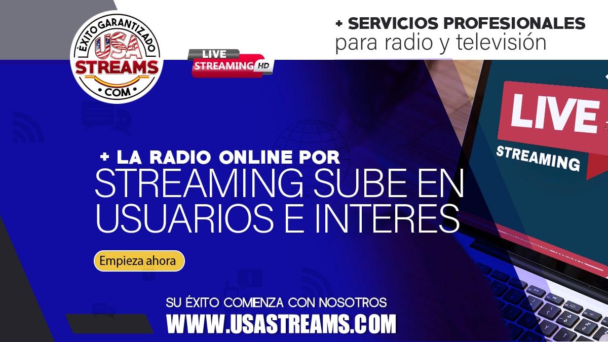 La radio online por streaming sube en usuarios e interes