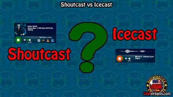 Diferencias en Icecast y Shoutcast.