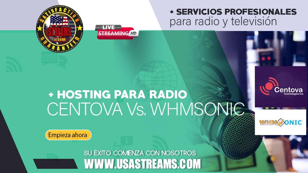 Hosting para radio: Centova vs Whmsonic