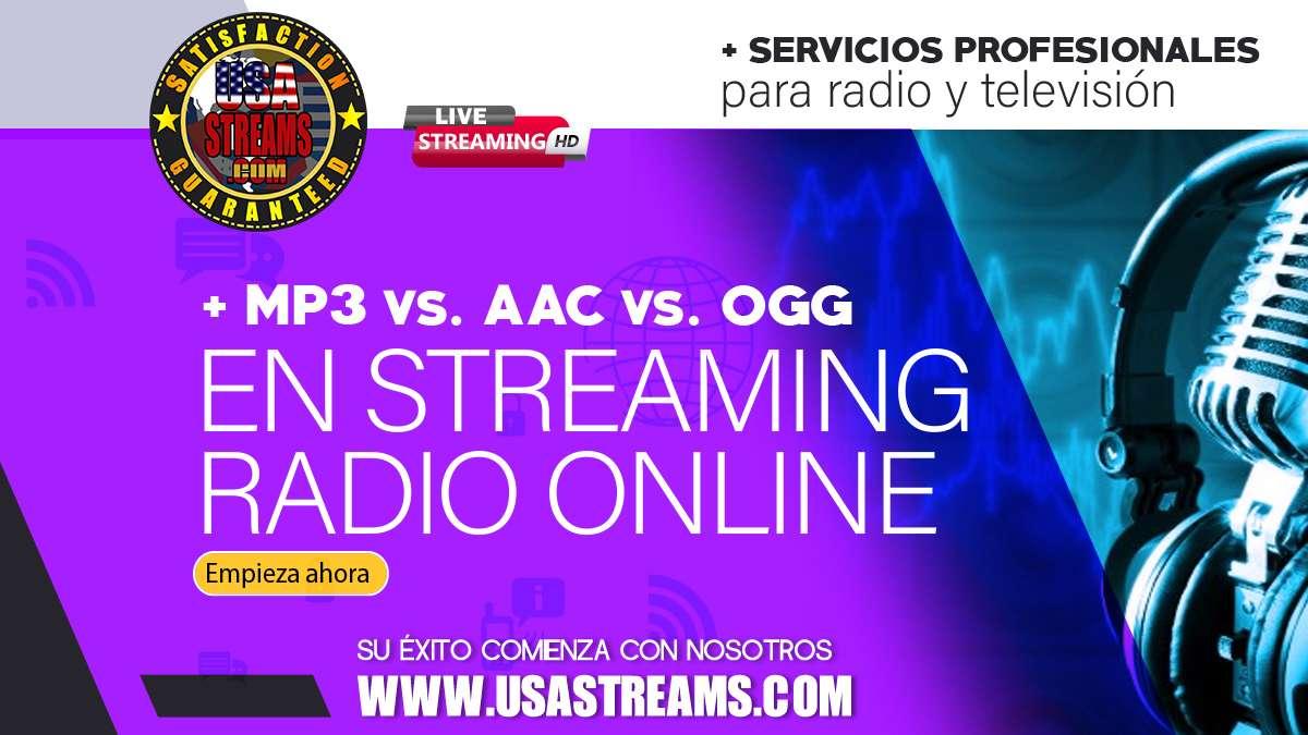 MP3 vs AAC vs OGG en streaming radio online