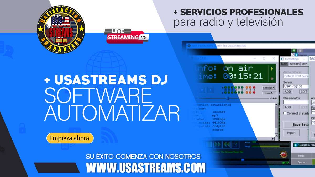 usastreams dj software automatizar