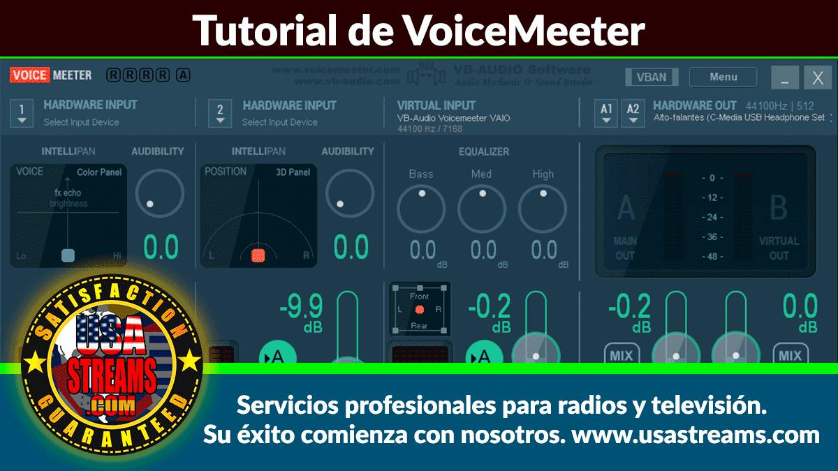 tutorial de VoiceMeeter Cómo realizar locuciones