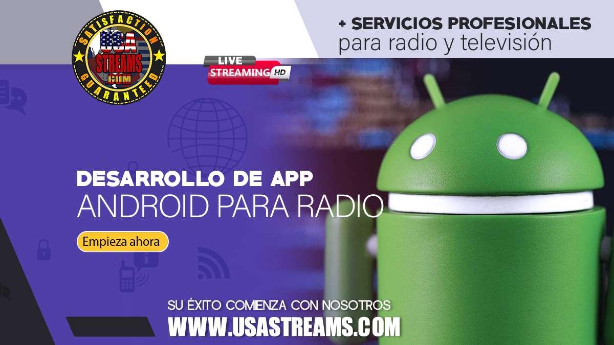 Desarrollo de app Andriod IOS para radio