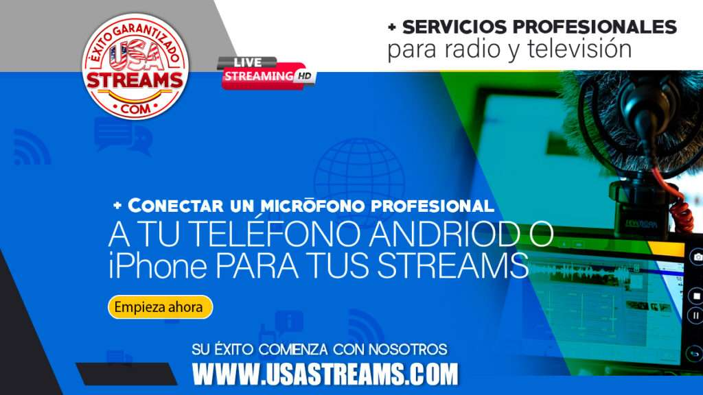 conectar un microfono profesional a tu telefono android o iphone para tus streams