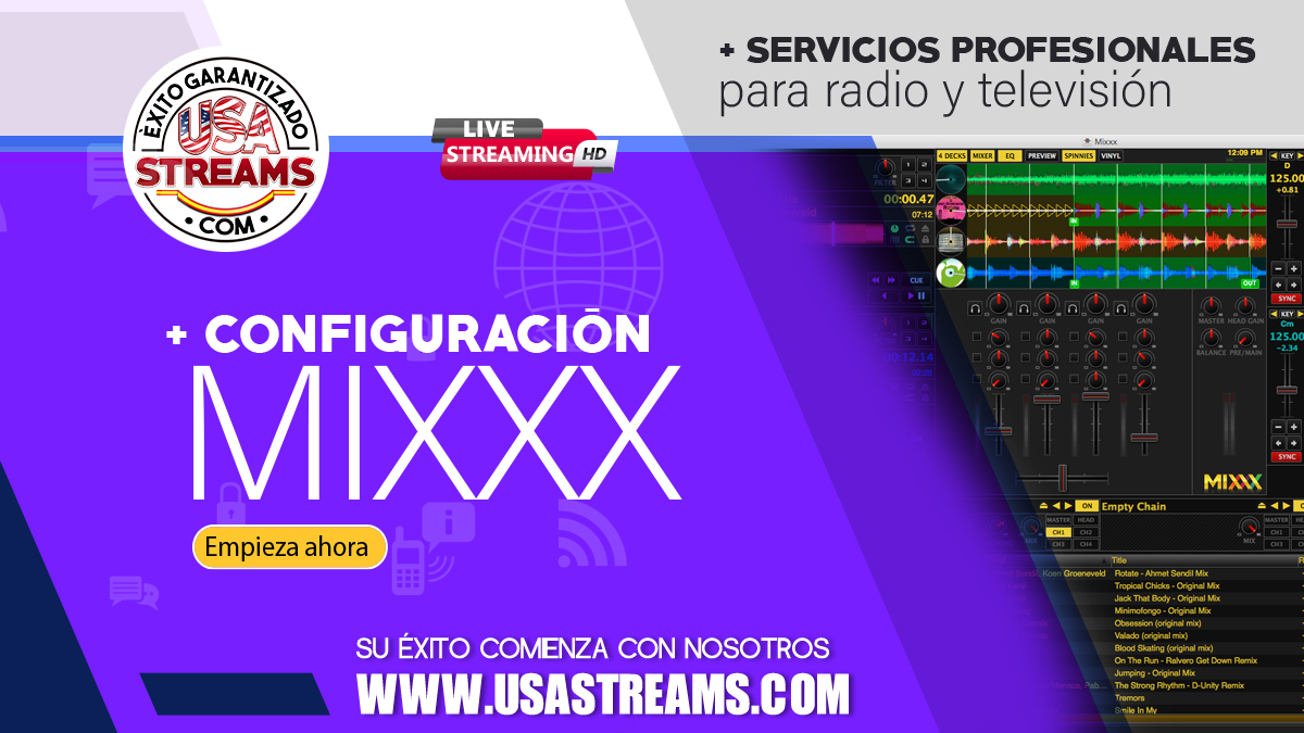 Cómo configurar Mixxx para transmitir radio online