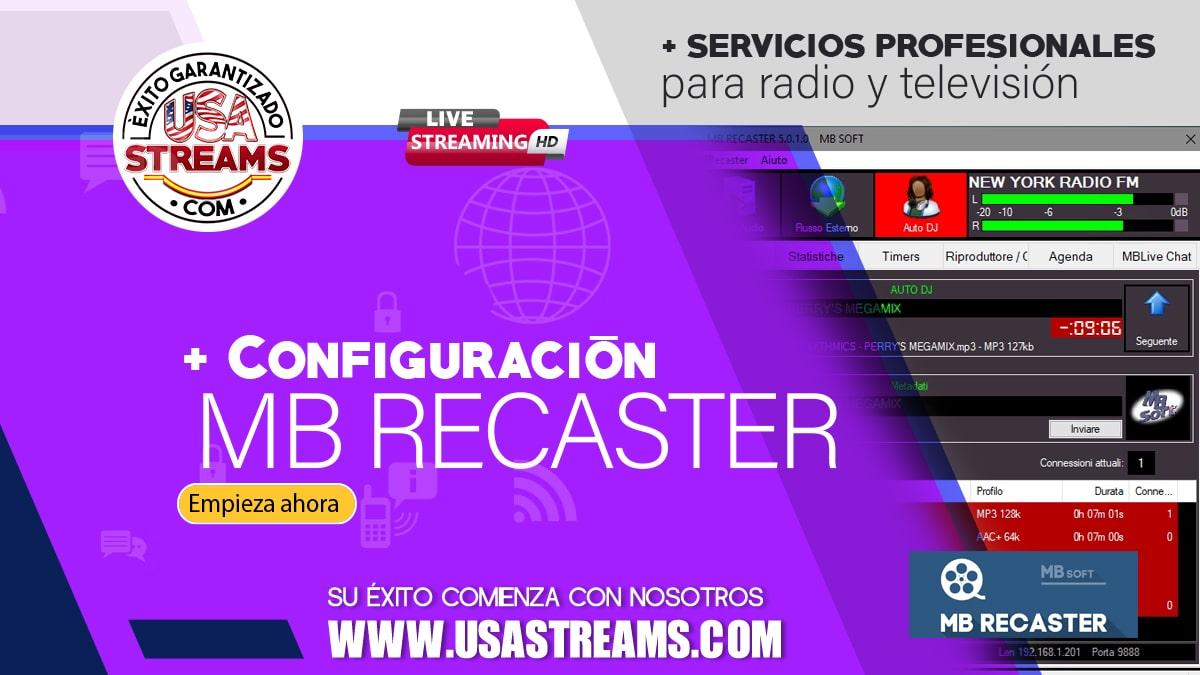Configuración MB Recaster: guía paso a paso para transmitir online