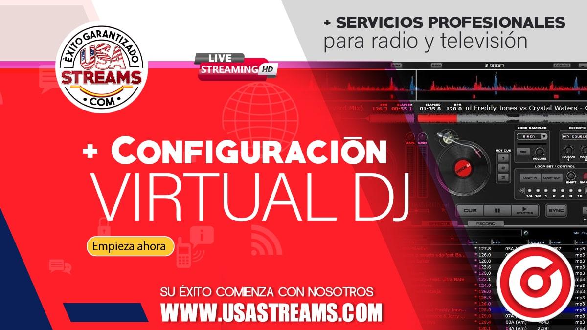 Configuración Virtual DJ: tutorial paso a paso para transmitir radio online
