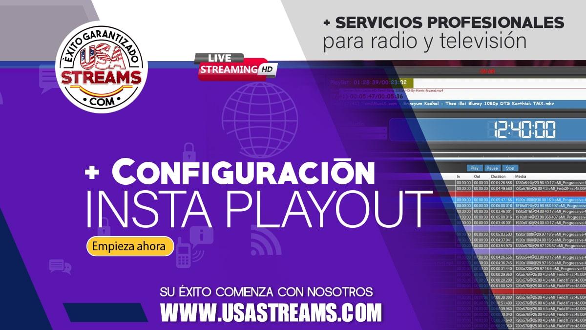 Configuración Insta Playout: tutorial paso a paso para transmitir online
