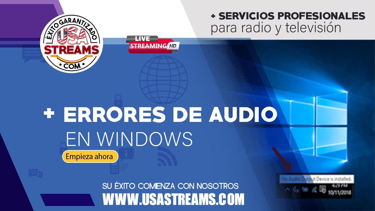 Error «Ningún dispositivo de audio instalado»: qué hacer si Windows no reconoce mis dispositivos de audio