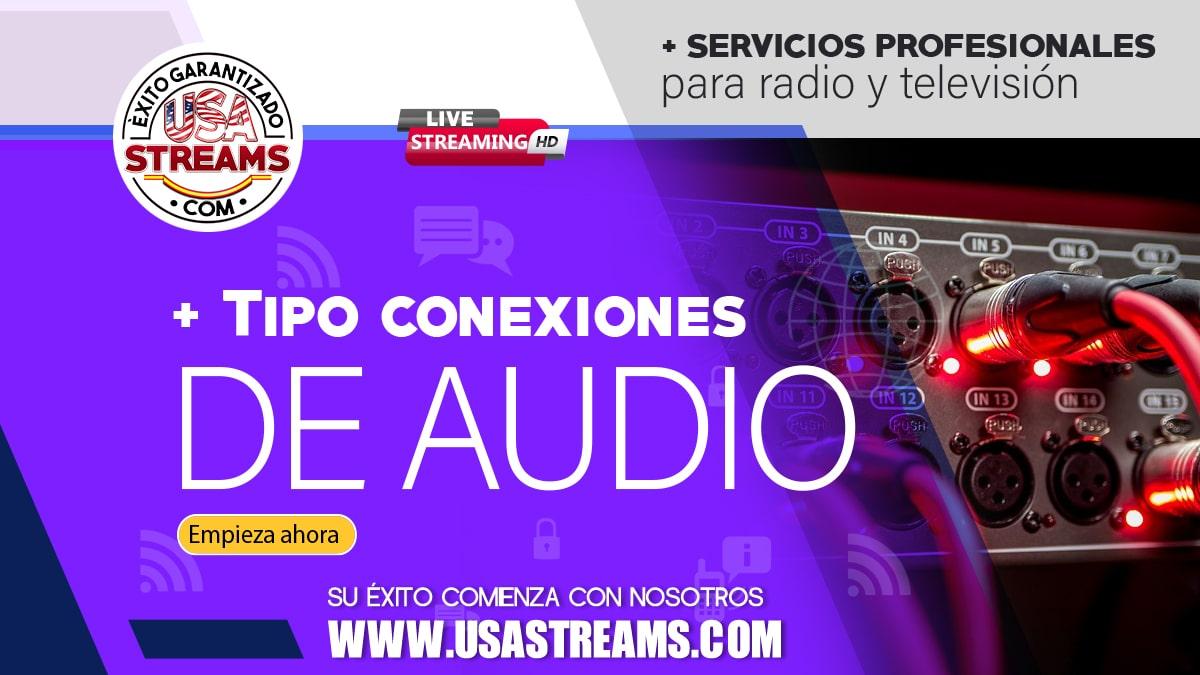 Conexiones de audio: cuáles existen y en qué se diferencian