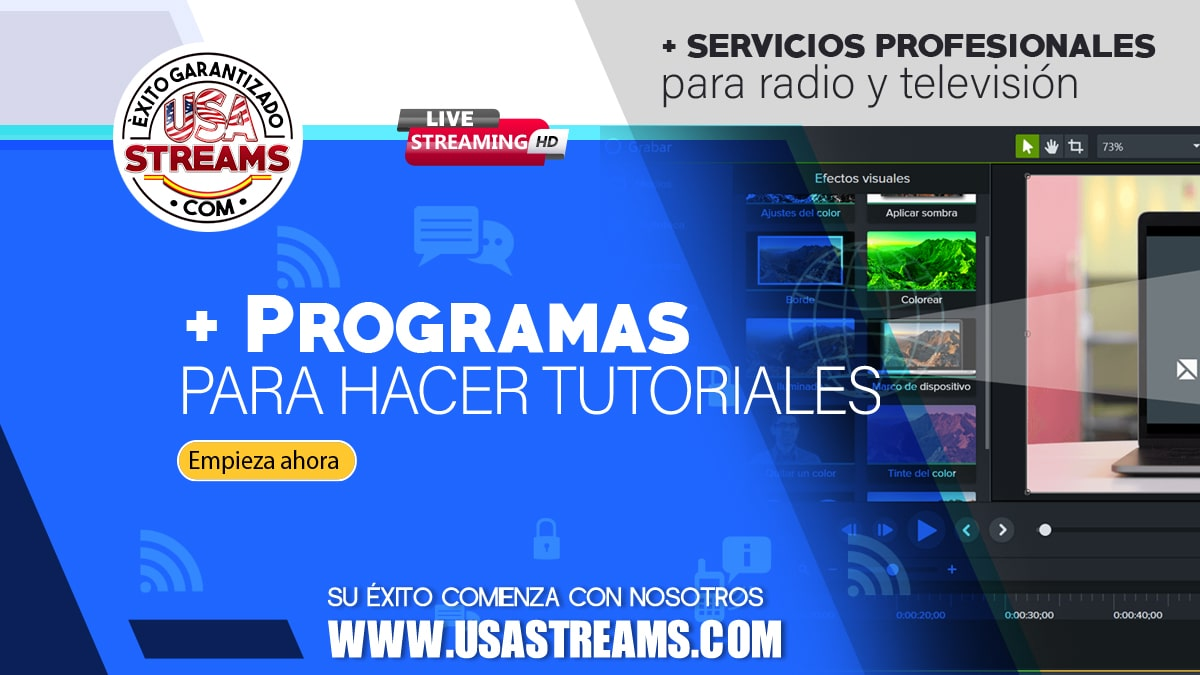 Los mejores programas para realizar video tutoriales