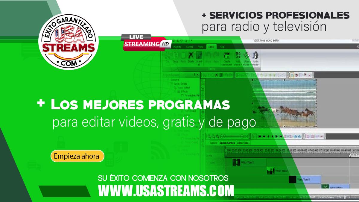 los mejores programas para editar videos, gratis y de pago